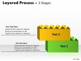 Layered Process diagram 2 Stages 78