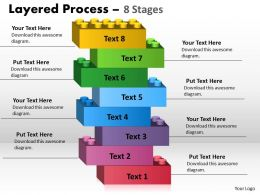 Layered Process eight steps diagram 16