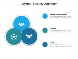 Layered Security Approach Ppt Powerpoint Presentation Show Inspiration Cpb