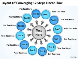 layout_of_converging_12_steps_linear_flow_cycle_chart_powerpoint_templates_Slide01
