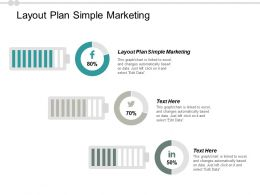 Layout Plan Simple Marketing Ppt Powerpoint Presentation Pictures Samples Cpb