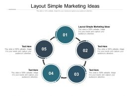 Layout Simple Marketing Ideas Ppt Powerpoint Presentation Styles Brochure Cpb