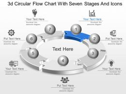 Lb 3d Circular Flow Chart With Seven Stages And Icons Powerpoint Template Slide