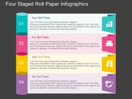 lb Four Staged Roll Paper Infographics Flat Powerpoint Design