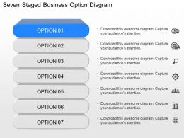 lb Seven Staged Business Option Diagram Powerpoint Template