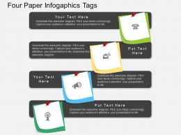Lc Four Paper Infogaphics Tags Flat Powerpoint Design