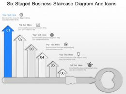 lc Six Staged Business Staircase Diagram And Icons Powerpoint Template
