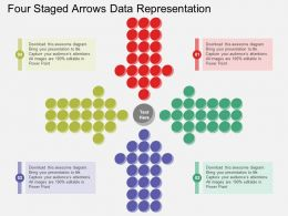 Ld Four Staged Arrows Data Representation Flat Powerpoint Design