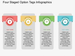 ld Four Staged Option Tags Infographics Flat Powerpoint Design
