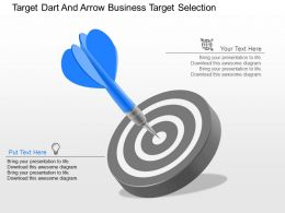 ld Target Dart And Arrow Business Target Selection Powerpoint Template