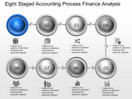 Le Eight Staged Accounting Process Finance Analysis Powerpoint Template Slide