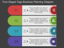 le Four Staged Tags Business Planning Diagram Flat Powerpoint Design