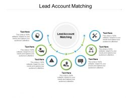 Lead Account Matching Ppt Powerpoint Presentation Icon Designs Cpb