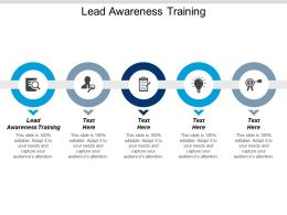 Lead Awareness Training Ppt Powerpoint Presentation Infographics Deck Cpb