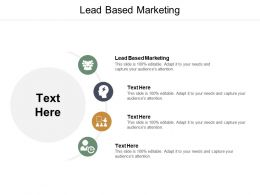 Lead Based Marketing Ppt Powerpoint Presentation Pictures Influencers Cpb