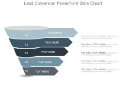 Lead Conversion Powerpoint Slide Clipart