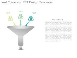 Lead Conversion Ppt Design Templates