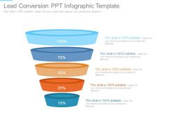 Lead Conversion Ppt Infographic Template