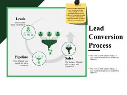Lead Conversion Process Ppt Slide Themes