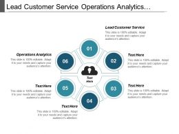 Lead Customer Service Operations Analytics Operating Capital Investing Cpb