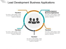 Lead Development Business Applications Ppt Powerpoint Presentation Gallery Diagrams Cpb