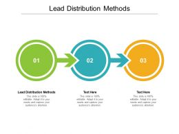 Lead Distribution Methods Ppt Powerpoint Presentation File Summary Cpb