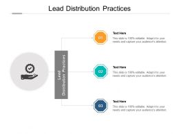 Lead Distribution Practices Ppt Powerpoint Presentation Summary Structure Cpb
