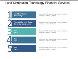 Lead Distribution Technology Financial Services Digital Marketing Management Cpb