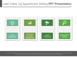 Lead Follow Up Appointment Setting Ppt Presentation