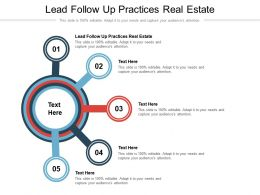 Lead Follow Up Practices Real Estate Ppt Powerpoint Presentation Ideas Background Cpb