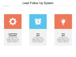 Lead Follow Up System Ppt Powerpoint Presentation Gallery Slide Download Cpb