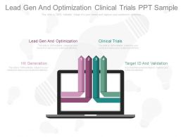 Lead Gen And Optimization Clinical Trials Ppt Sample