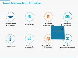 Lead Generation Activities Ppt Powerpoint Presentation Icon Example