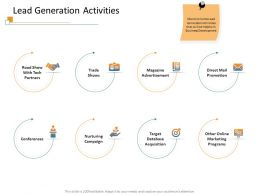 Lead Generation Activities Trade Show Ppt Powerpoint Presentation Icon Aids