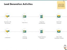 Lead Generation Activities Trade Shows Ppt Powerpoint Presentation File Topics