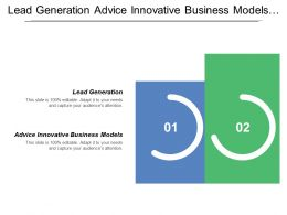 Lead Generation Advice Innovative Business Models Research Idea Product