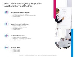 Lead Generation Agency Proposal Additional Service Offerings Ppt Powerpoint Presentation Ideas