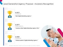 Lead Generation Agency Proposal Awards And Recognition Ppt Powerpoint Presentation Tips