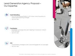 Lead Generation Agency Proposal Our Expertise Ppt Powerpoint Presentation Infographic