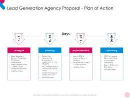 Lead Generation Agency Proposal Plan Of Action Ppt Powerpoint Presentation Slides Portrait