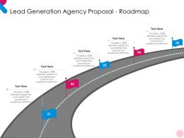 Lead Generation Agency Proposal Roadmap Ppt Powerpoint Presentation Pictures Gridlines
