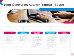 Lead Generation Agency Proposal Scope Ppt Powerpoint Presentation Ideas Graphics Pictures