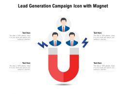 Lead Generation Campaign Icon With Magnet