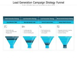 Lead Generation Campaign Strategy Funnel