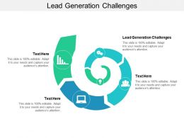 Lead Generation Challenges Ppt Powerpoint Presentation Professional Background Designs Cpb