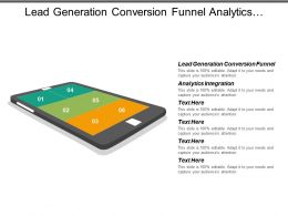 Lead Generation Conversion Funnel Analytics Integration Solution Services Cpb