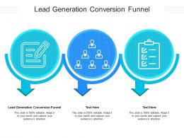 Lead Generation Conversion Funnel Ppt Powerpoint Presentation Ideas Format Cpb