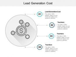 Lead Generation Cost Ppt Powerpoint Presentation Gallery Diagrams Cpb