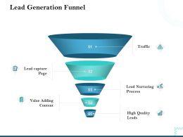 Lead Generation Funnel Lead Nurturing Ppt Powerpoint Presentation Themes