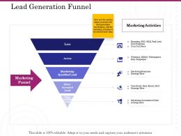 Lead Generation Funnel Live Ppt Powerpoint Presentation Ideas Graphic Tips